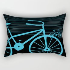 Blue Bike by Friztin Rectangular Pillow