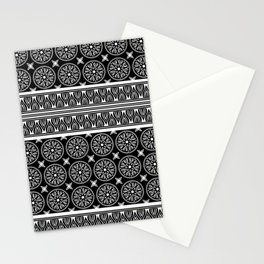 African Ethnic Tribal Black Pattern Stationery Cards