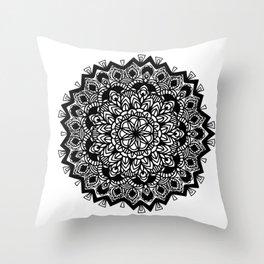 Mandala: detailed and hand-drawn Throw Pillow