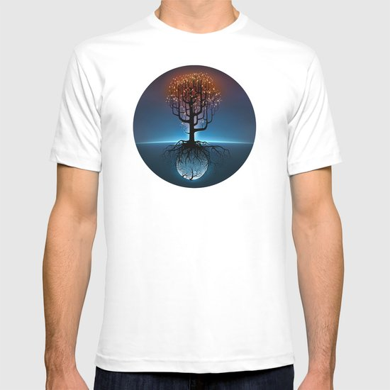 Tree, Candles, and the Moon T-shirt