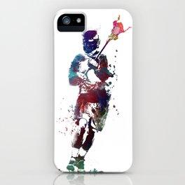 Lacrosse player art 2 iPhone Case