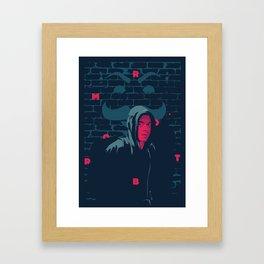 Mr. Robot - series poster Framed Art Print