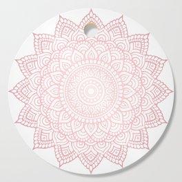 Intricate Rose Gold Mandala Cutting Board