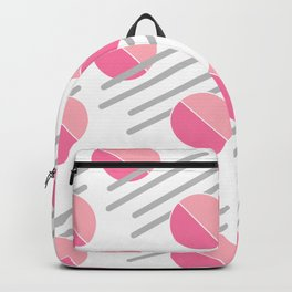 Modern Pink Circle Line Abstract Backpack