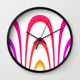 Cheerful lines Wall Clock