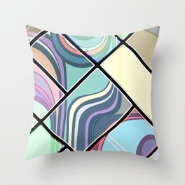 Abstract Cream Geometric Pattern | Pastel | Contemporary Design | NEW Throw Pillow