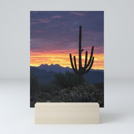 Sonoran Saguaro Sunrise Calling Mini Art Print