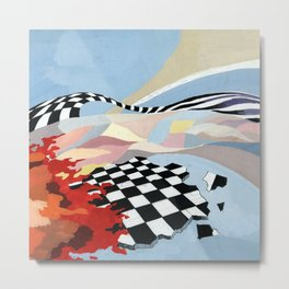 """Abstract composition """"space and time"""". Metal Print"""