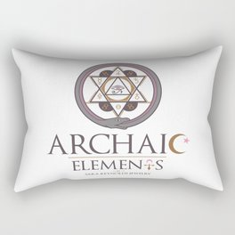 Archaic Elements 2 Rectangular Pillow