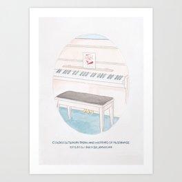 Haruki Murakami's Colorless Tsukuru Tazaki and His Years of Pilgrimage Book Cover Art Print