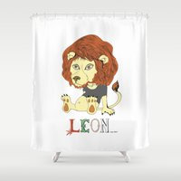 leon Shower Curtains featuring Leon by eva vasari