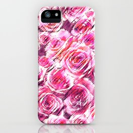 Textured Roses Pink Amanya Design iPhone Case