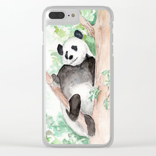 Panda, Hanging Out Clear iPhone Case