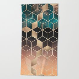 Ombre Dream Cubes Beach Towel