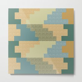 Shapes and dots Metal Print