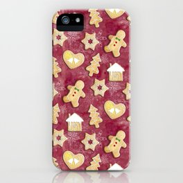 Gingerbread Christmas Cookies iPhone Case