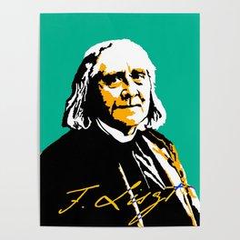 Franz Liszt (1811-1886) in 1886 (digital 2) Poster