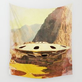 Flying Saucer - Machu Picchu Wall Tapestry