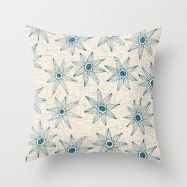 sema cream blue Throw Pillow