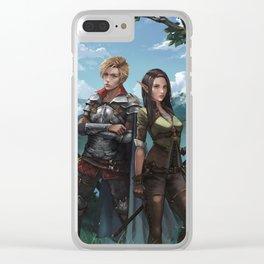 Royal Magic KM Shea Cover Illustration Clear iPhone Case