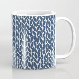 Hand Knit Navy Coffee Mug
