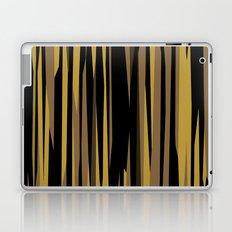 Yellow tan and black abstract Laptop & iPad Skin