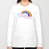 yaoi Long Sleeve T-shirts featuring Yaoi is Gay (High Contrast Version with T-shirts) by merimeaux