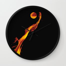 Let it fire to the moon - Fire sign - The Five Elements Wall Clock