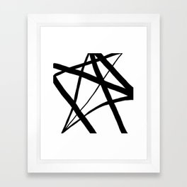 A Harmony of Lines and Shapes Framed Art Print
