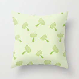 Vegetables broccoli colorful pattern Throw Pillow