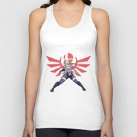 smash bros Tank Tops featuring Smash Bros - Sheik by Emm Gee Art