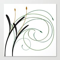 grass Canvas Prints featuring Grass by DistinctyDesign