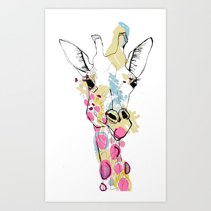 G-raff colour Art Print