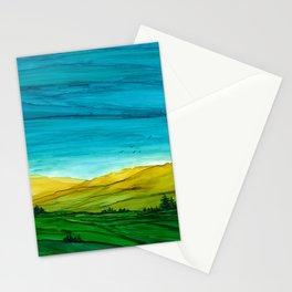 Landscape, Alcohol Ink Stationery Cards