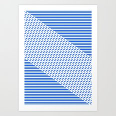 Ovrlap Blue Art Print