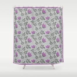 Liana purple flowers . Shower Curtain