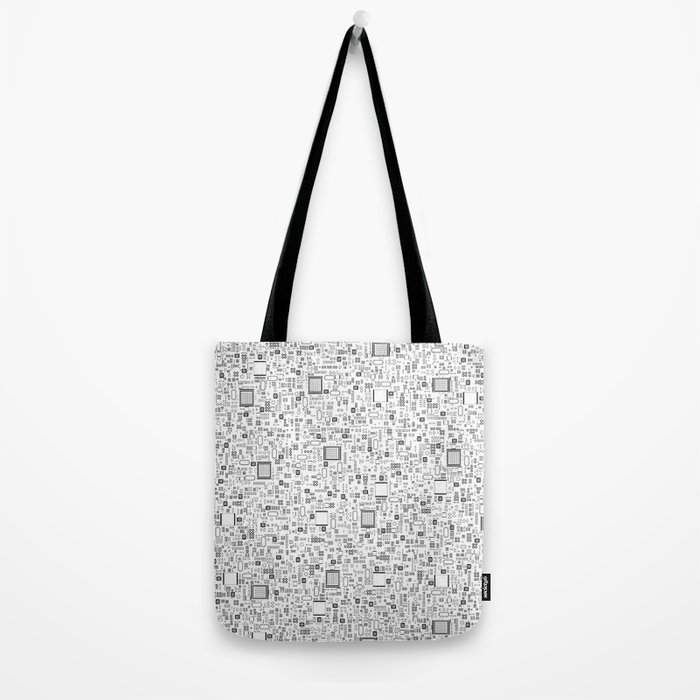 All Tech Line / Highly detailed computer circuit board pattern Tote Bag