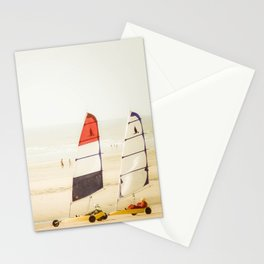 Sand yachting trio Stationery Cards