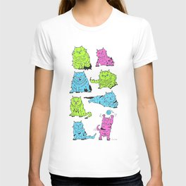 Fluro Cats T-shirt
