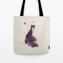 Little Fox and Mushrooms Tote Bag