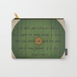 The Road Goes Ever On - Green Door Carry-All Pouch