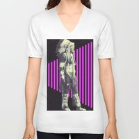 indian V-neck T-shirts featuring Indian by Robert Cooper