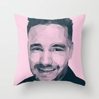 liam payne Throw Pillows featuring Liam Payne - One Direction by jrrrdan