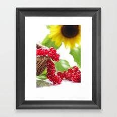 Red summer fruits image Framed Art Print