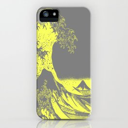 The Great Wave Yellow & Gray iPhone Case