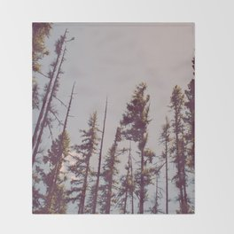 Forest Treetops Throw Blanket