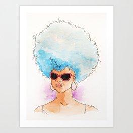Black Blue Art Print