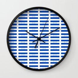 Flag of Honduras 2 -honduran,catracho,tegucigalpa,punta. Wall Clock