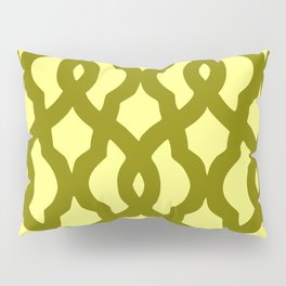Grille No. 2 -- Yellow Pillow Sham