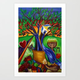 "TREE OF LIFE ""ETZ CHAIM"" Art Print"